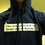 I am famous! One of my tweets was on #qanda hoodie