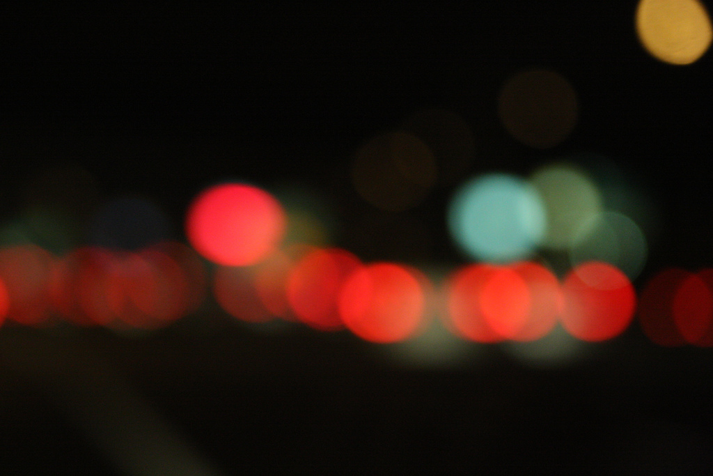 Happy bokeh traffic